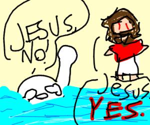JESUS IS MAKING PEOPLE DROWNN