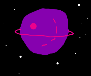 extremely large purple planet.