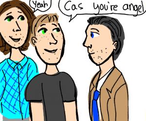 Sam and Dean tell Cas hes an angel