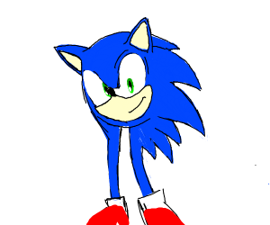 Sonic, but just a head and legs