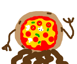 Mutant cooking pizza