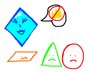 Diamond teasing the pleb shapes.