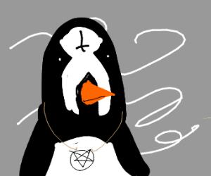 satanist penguin