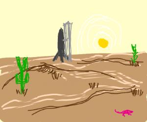 Missile in the Desert