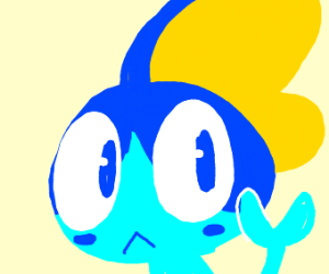 Sobble looking at its own hand
