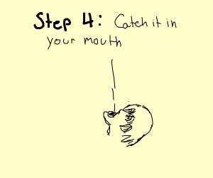 Step 3: toss the egg