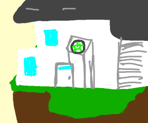(pansear?)homestuck house with default pfp