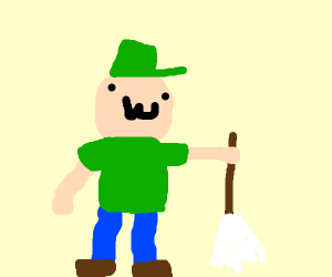 guy with a mop