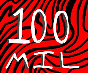 Pewds gets 100 mil subs/ Hooray!