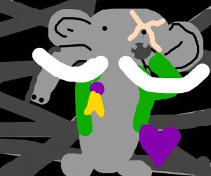 Veteran elephant