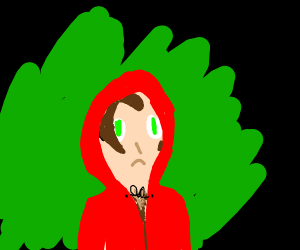 little red riding hood is lost in the forest