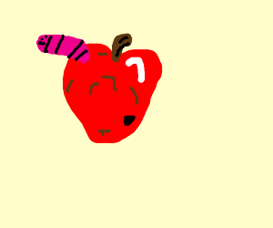 worm in a apple