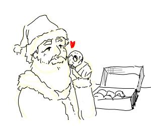 Santa likes donuts