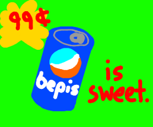 """Can with """"bP"""" on is is sweet"""