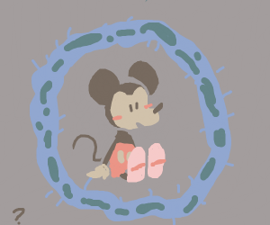 mickeymouse trapped in bacteria jail