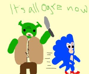 shrek tries to kill sonic