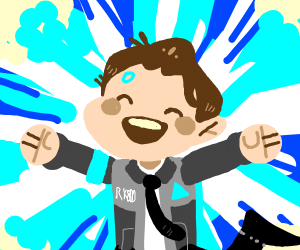 Brown haired happy guy <3s Connor