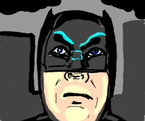 batman gives a makeup tutorial