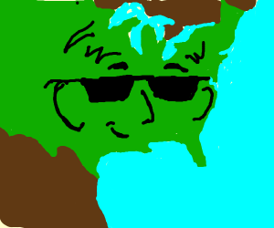 United States with a face.
