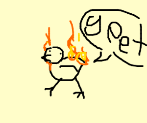 flaming rooster