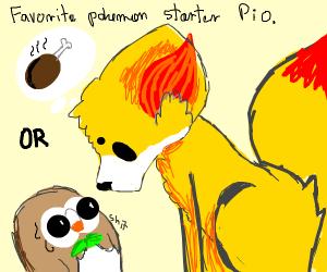 poketober day 1 fav starter mines pikachu pio