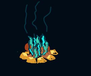 Blue campfire!