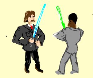 Tuxedo Lightsaber Battle