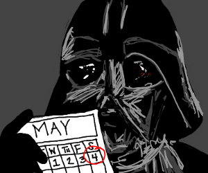Darth Vader May the 4th be with you