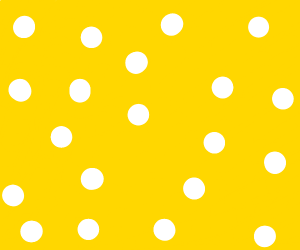 white polka dots on yellow background