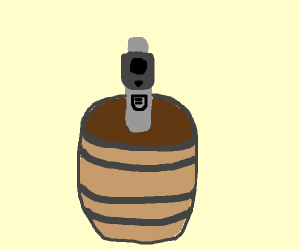 barrel of a gun pointing at you