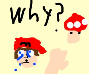 Mario loses his size powerup