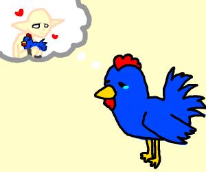 sad chicken
