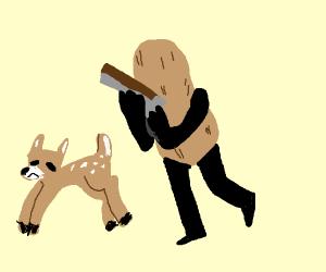 A peanut hunting