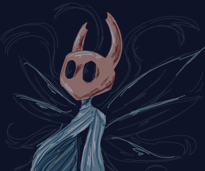 The main character from Hollow Knight! :0