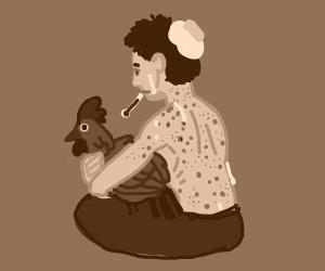 sick boy with chicken pox