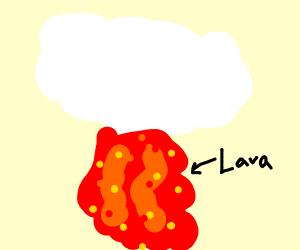 cloud vomiting lava