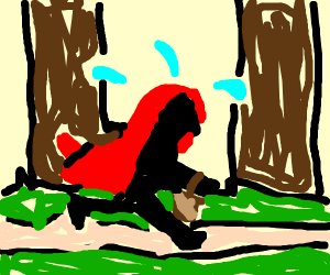 Red Riding Hood Running