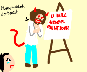 Bob Ross's evil twin makes people cry