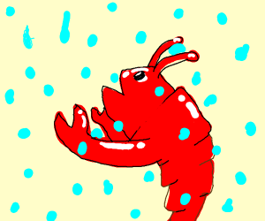 Lobster monster eats rain