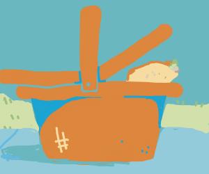 Tacos in picnic basket