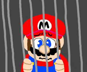 Mario behind bars