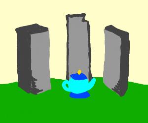 Teapot in stonehenge