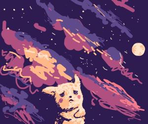 pikachu stargazing