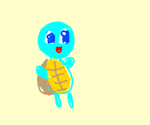 Blue clown pokemon