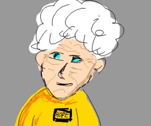 elderly woman is Hope