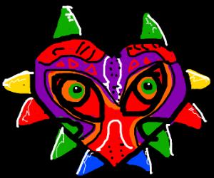 zelda majora's mask. spiky heart mask