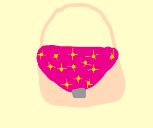 glitter purse that is pink