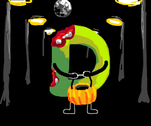 zombie D trick or treating