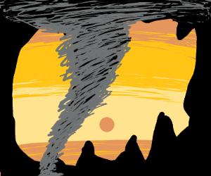 tornado in a cave