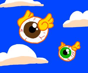 flying eyeballs